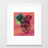 schnauzer Framed Art Prints featuring Schnauzer by MOSAICOArteDigital