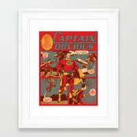 captain Framed Art Prints featuring Captain Obvious! by Joshua Kemble