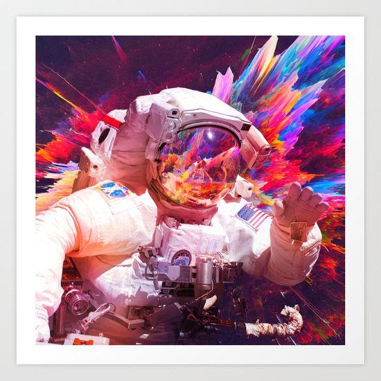 Astronaut (Abstract 30) Art Print