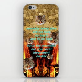 TRICKLE DOWN ECONOMICS ARE A SCAM iPhone Skin