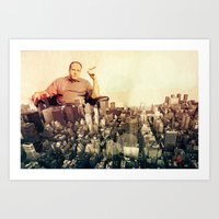 sopranos Art Prints featuring The Sopranos by PIXERS