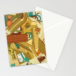 Monsters on Stairs Stationery Cards