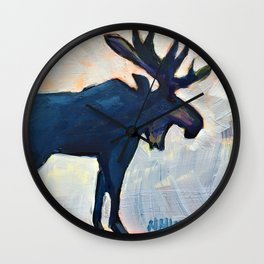 Appreciation - Moose Wall Clock
