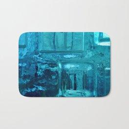 355 - Abstract Design through the Blue Bottle Bath Mat