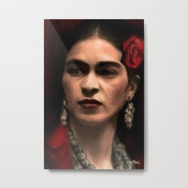 Frida Kahlo Portrait Metal Print