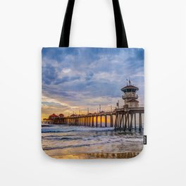 Unsettled Sunset Tote Bag