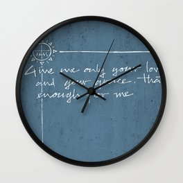 Give me your love and grace. Jesuit illustration Wall Clock