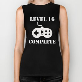 Level 16 Complete 16th Birthday Biker Tank
