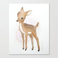 fawn Canvas Prints featuring Fawn  by Tanya Petruk