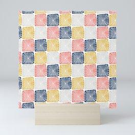 Bohemian Sandcastles- Random: Coral, Blue, Ochre, Gray Mini Art Print