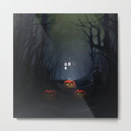 Tardis halloween Metal Print