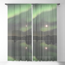 Aurora Borealis  Sheer Curtain