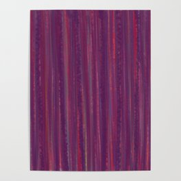 Stripes  - purple and red Poster