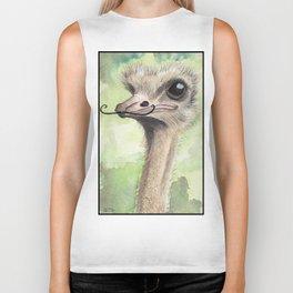 Ostrich 'Stache Biker Tank