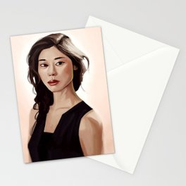 Woman Portrait Stationery Cards
