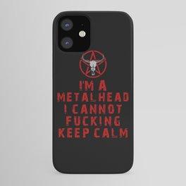 Metalhead Keep Calm iPhone Case