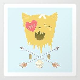 Meow Melt  Art Print