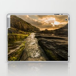 Trebarwith strand sunset Laptop & iPad Skin