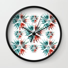 Succulent Fade Out Burst Wall Clock