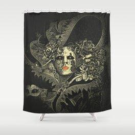 Halloween, baroque Venetian spooky mask Shower Curtain