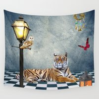 relax Wall Tapestries featuring Relax by haroulita