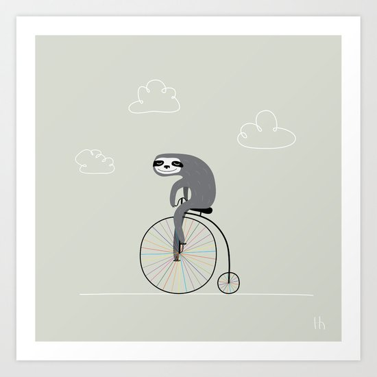 The Happy Ride Art Print