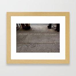 Become. Framed Art Print