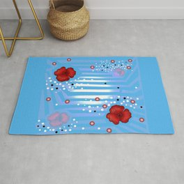 Grove poppies Rug