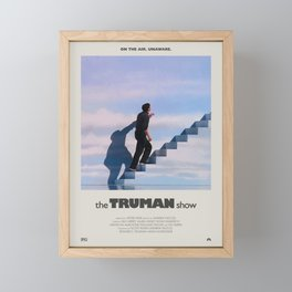 The Truman Show (1998) Minimalist Poster Framed Mini Art Print