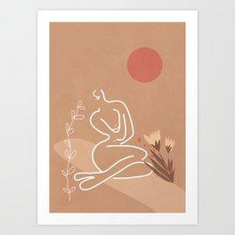 Woman in Nature Illustration Art Print