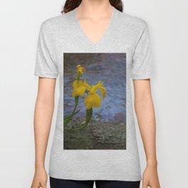 Floral Print 020 Unisex V-Neck