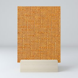 Heritage - Hand Woven Cloth Yellow Mini Art Print