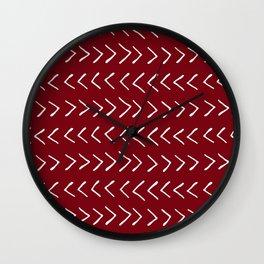 Arrows on Maroon Wall Clock