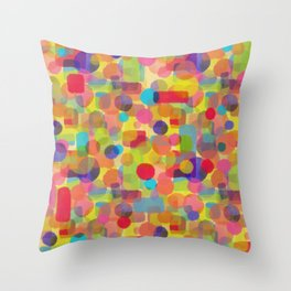 Dots of Watercolors - Leah Quinn Design Throw Pillow