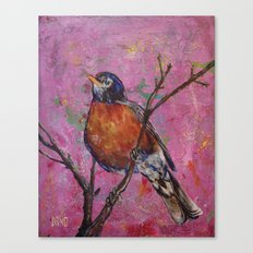 American Robin #6 Canvas Print