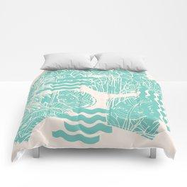Jungle Green Comforters