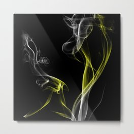 Smoke Yellow Metal Print