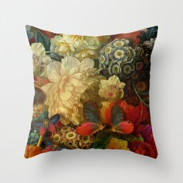 """""""Baroque Spring of Flowers and Butterflies"""" Throw Pillow"""