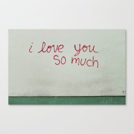 i love you so much. Canvas Print