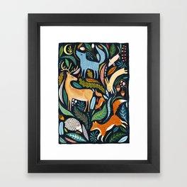 Woodland Animals Framed Art Print