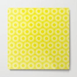 Sun Yellow Pattern -Beach Sun - Mix and Match with Simplicity of Life Metal Print