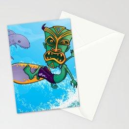 Tiki Surfer Stationery Cards