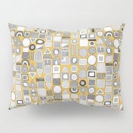frisson memphis bw yellow dash Pillow Sham