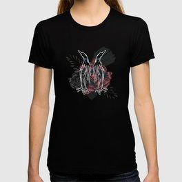 Strange Stylized Birds With Roses T-shirt