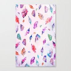 Watercolour Crystals  Canvas Print