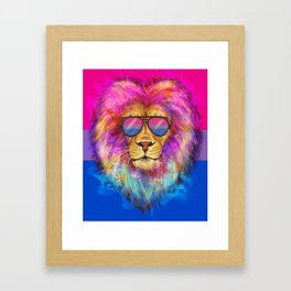 The Bi Lion Pride Framed Art Print
