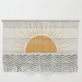 Sunrise Ocean -  Mid Century Modern Style Wall Hanging