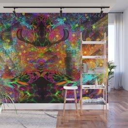 Black Fire Alien Heads Wall Mural