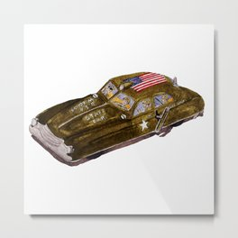 Dick Tracy Era Wind-up Toy Army Car Metal Print