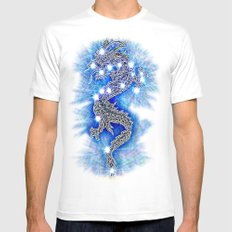 Dragon-constellation series Mens Fitted Tee White MEDIUM